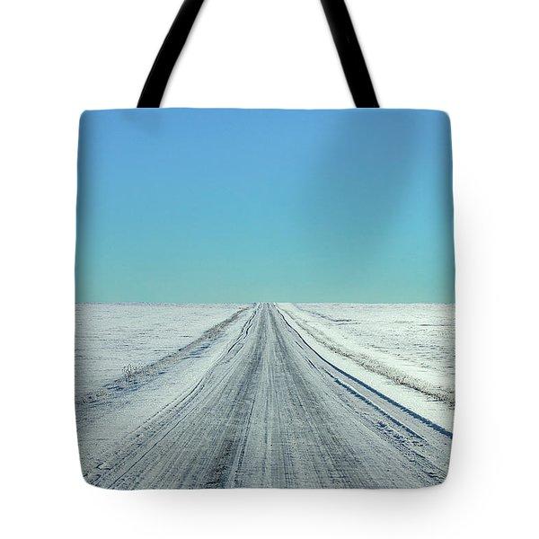 Cold Rural Road Tote Bag