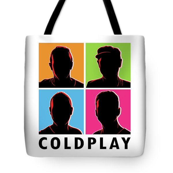 Coldplay Silhouette Tote Bag