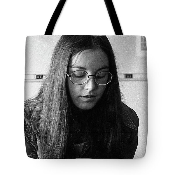 College Student With Octagonal Eyeglasses, 1972 Tote Bag