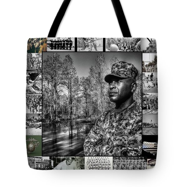 Tote Bag featuring the photograph Colonel Trimble Collage by Al Harden