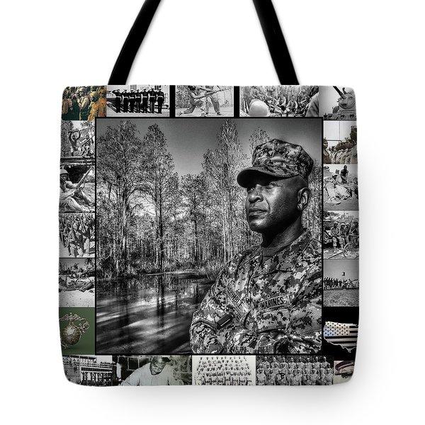 Colonel Trimble Collage Tote Bag