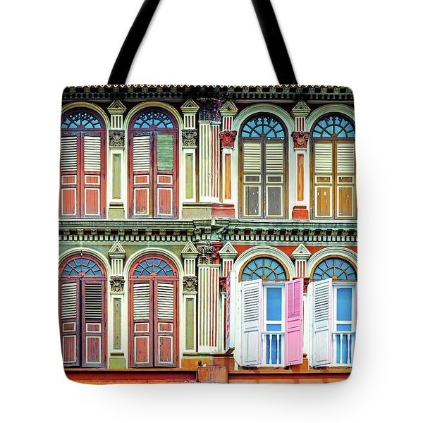Colonial Architecture In Singapore Tote Bag