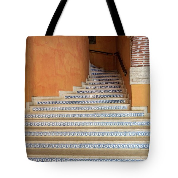 Tote Bag featuring the photograph Colonial Stairs by Juan Contreras