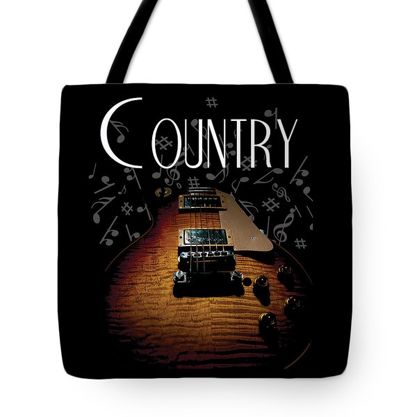 Color Country Music Guitar Notes Tote Bag