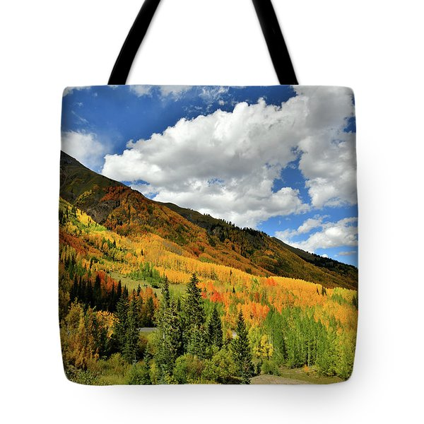 Color In The Spotlight At Red Mountain Pass Tote Bag