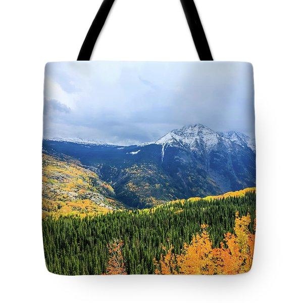 Colorado Aspens And Mountains 3 Tote Bag