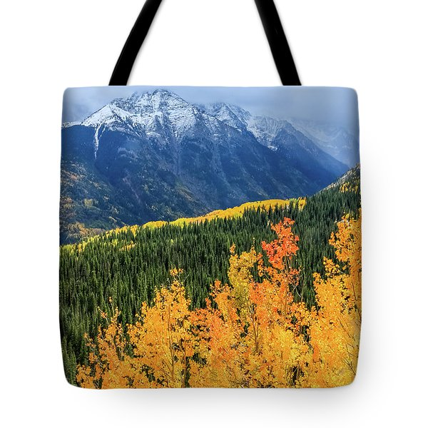 Colorado Aspens And Mountains 4 Tote Bag