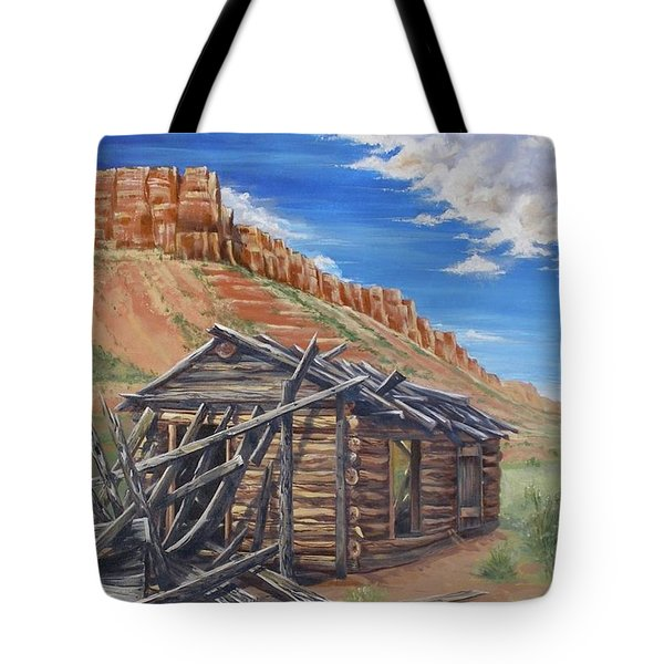 Colorado Prarie Cabin Tote Bag