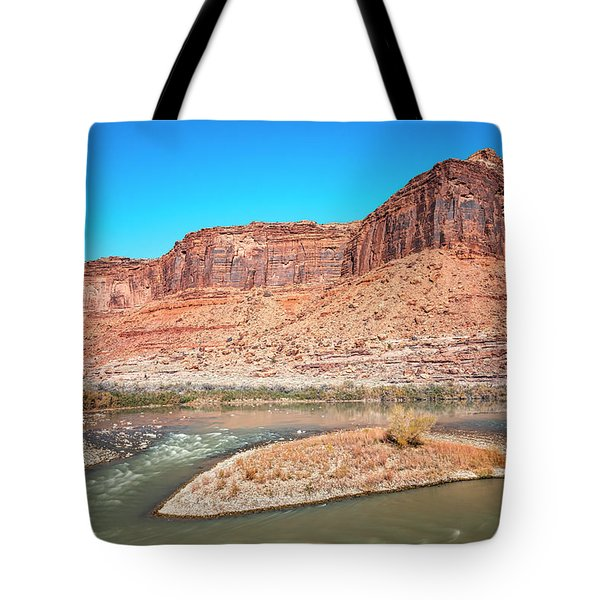 Tote Bag featuring the photograph Colorado River At Salt Wash by Andy Crawford
