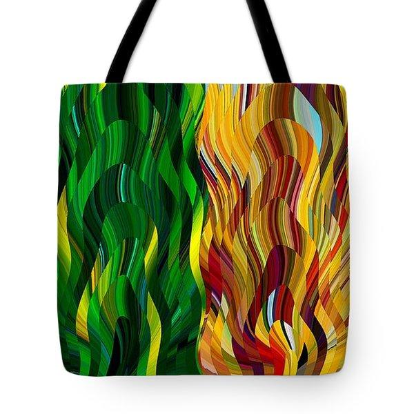 Colored Fire Tote Bag