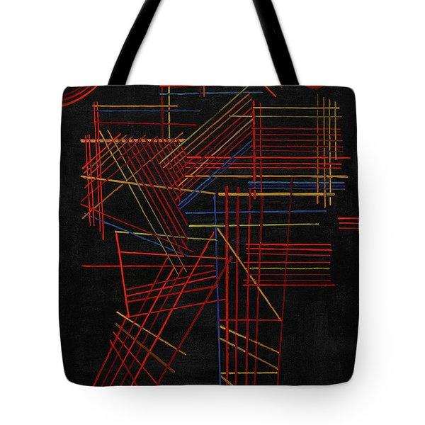 Colored Sticks, 1928 Tote Bag
