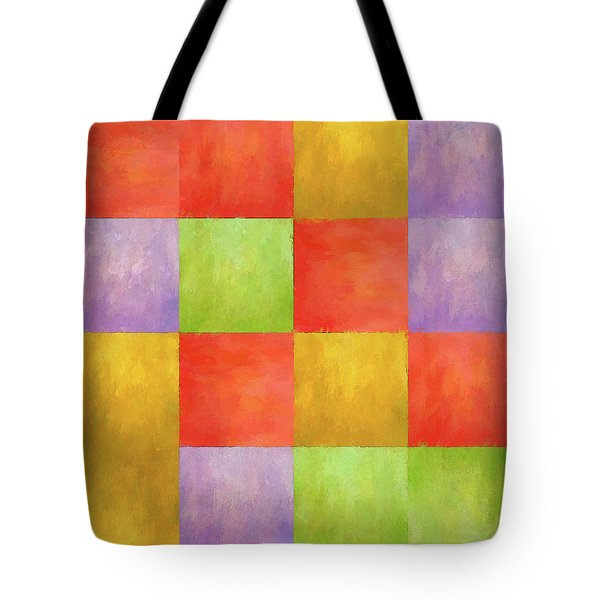 Colored Tiles Tote Bag