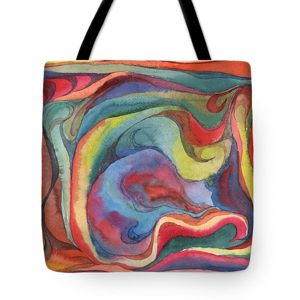 Tote Bag featuring the painting Colorful Abstract Palette 2 by Dobrotsvet Art