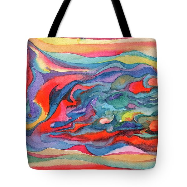Colorful Abstract Palette Tote Bag