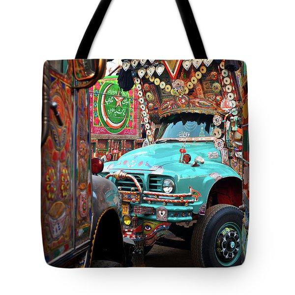 Truck Art Tote Bag