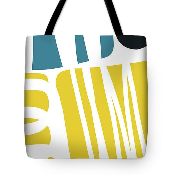 Tote Bag featuring the digital art Colorful Bento 1- Art By Linda Woods by Linda Woods