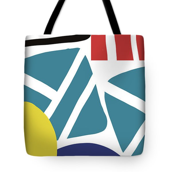 Tote Bag featuring the digital art Colorful Bento 3- Art By Linda Woods by Linda Woods