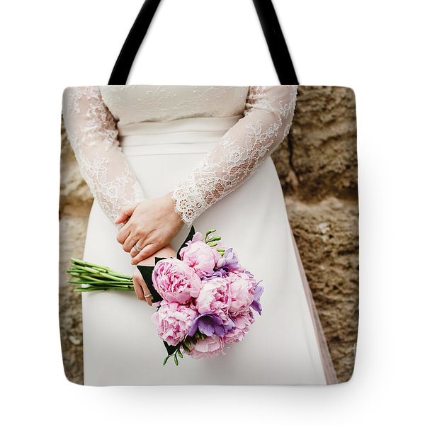Colorful Bridal Bouquets With Flowers Tote Bag