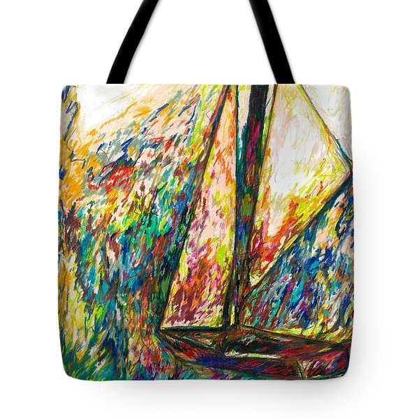 Colorful Day On The Water Tote Bag
