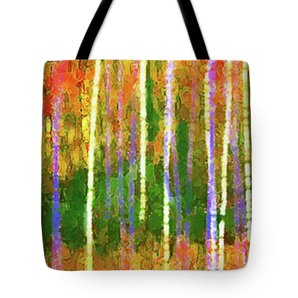 Colorful Forest Abstract Tote Bag