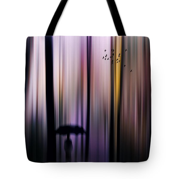 Colorful Forest Walk Tote Bag