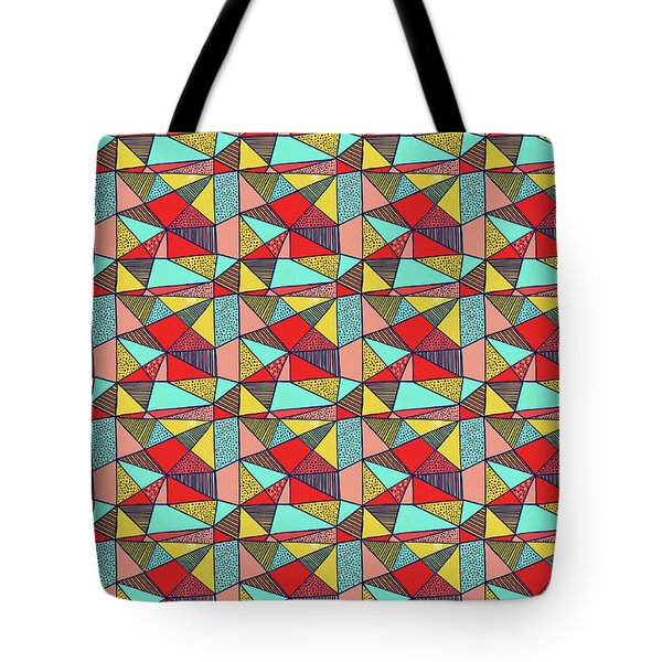 Colorful Geometric Abstract Pattern Tote Bag
