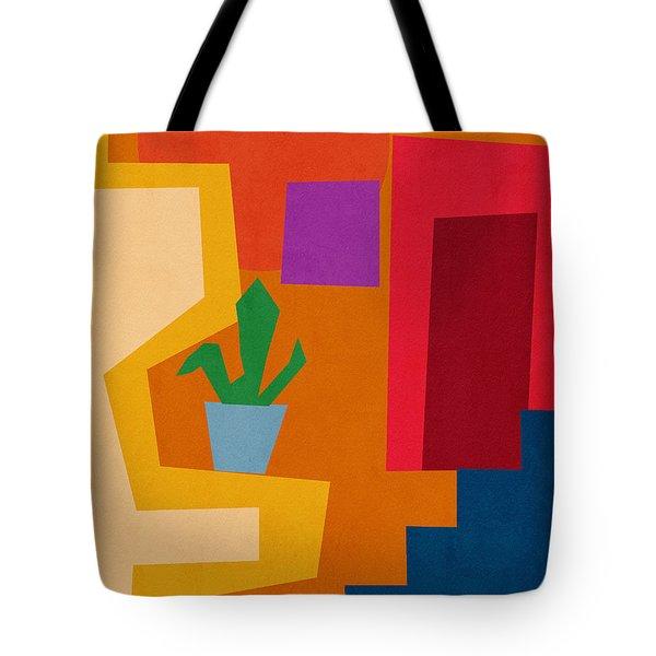 Colorful Geometric House 1- Art By Linda Woods Tote Bag