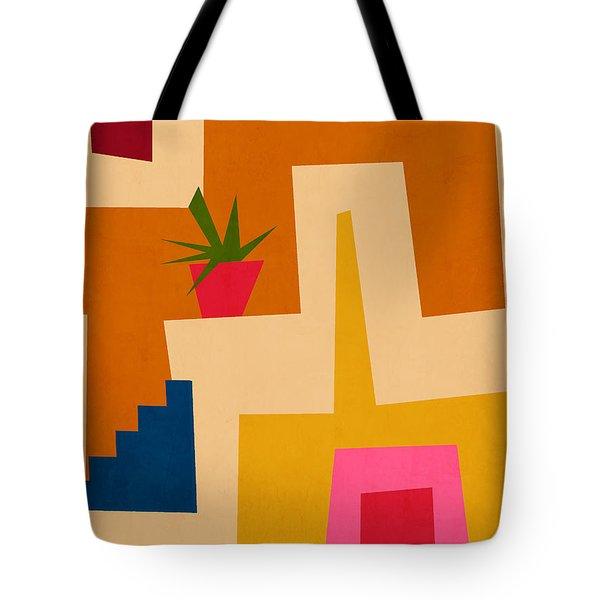 Colorful Geometric House 2- Art By Linda Woods Tote Bag