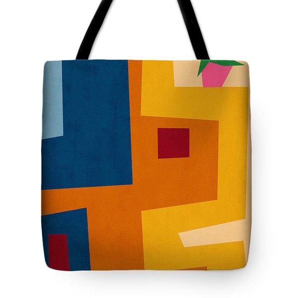 Colorful Geometric House 3- Art By Linda Woods Tote Bag