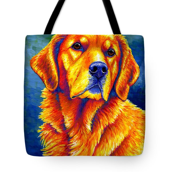 Colorful Golden Retriever Dog Tote Bag