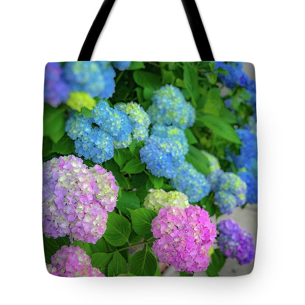 Colorful Hydrangeas Tote Bag