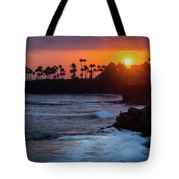 Tote Bag featuring the photograph Colorful Laguna Beach Sunset by Andy Konieczny