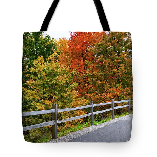 Tote Bag featuring the photograph Colorful Lane by SimplyCMB