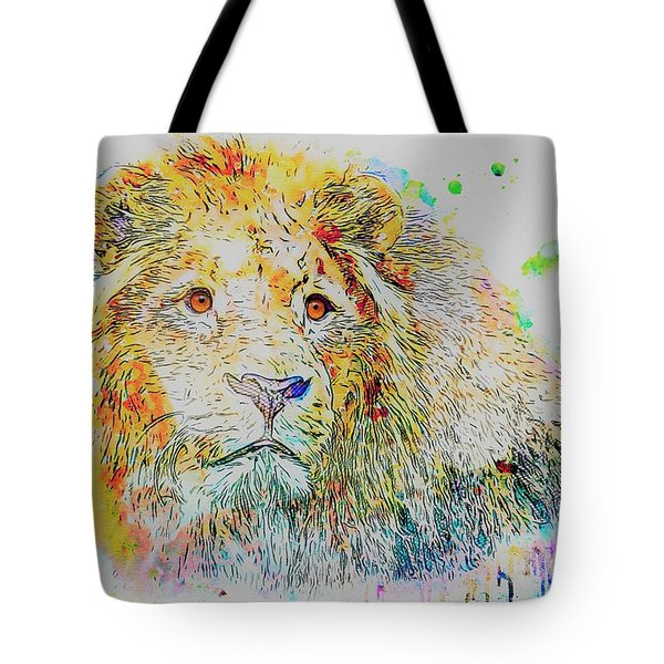 Colorful Lion Tote Bag