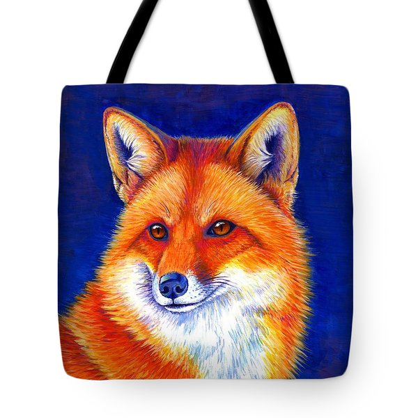Colorful Red Fox Tote Bag