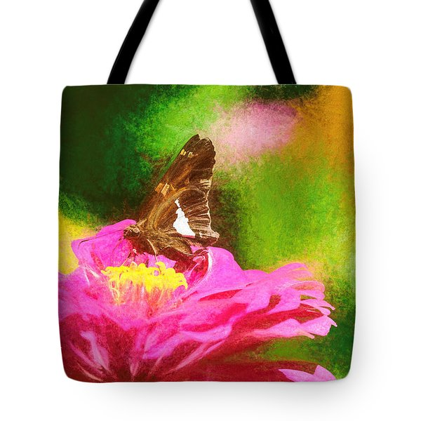 Colorful Silver Spotted Skipper Butterfly Tote Bag