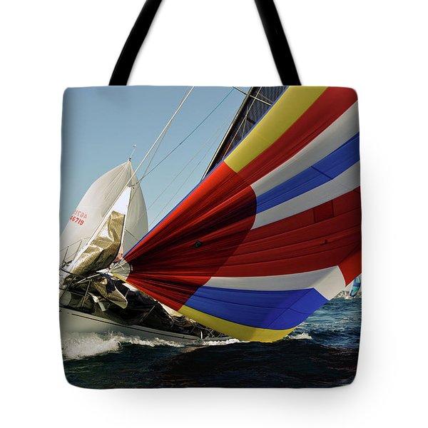 Colorful Spinnaker Run Tote Bag