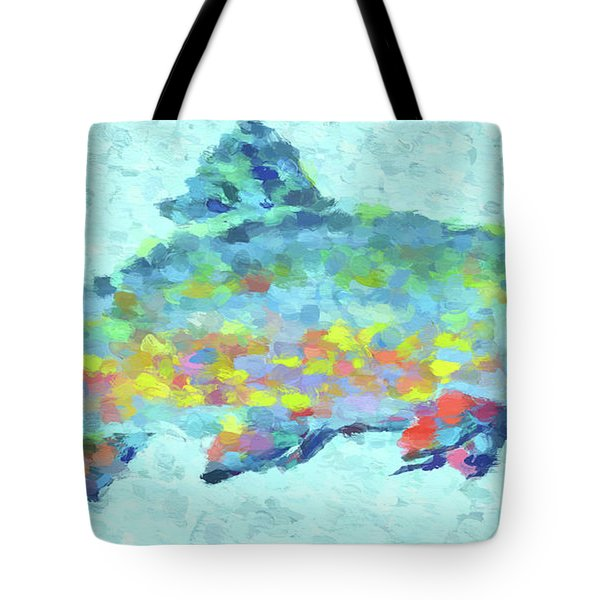 Colorful Trout Tote Bag