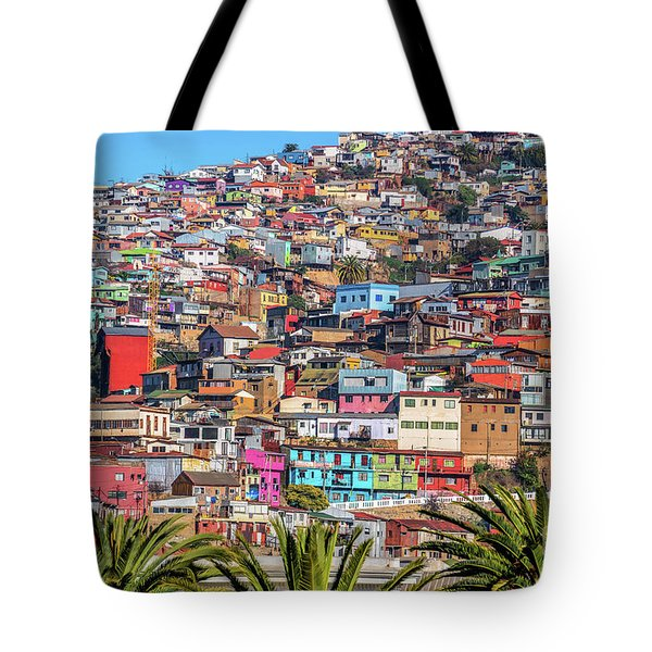 Colorful Walls Of Valparaiso Tote Bag