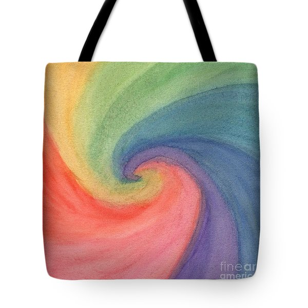 Colorful Wave Tote Bag