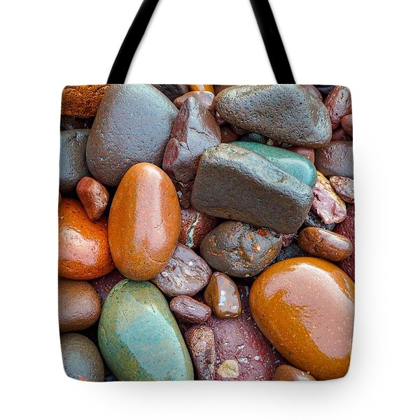Colorful Wet Stones Tote Bag