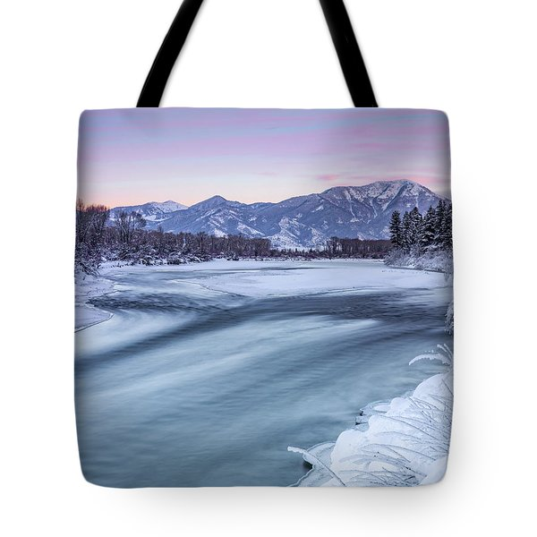 Colorful Winter Morning Tote Bag