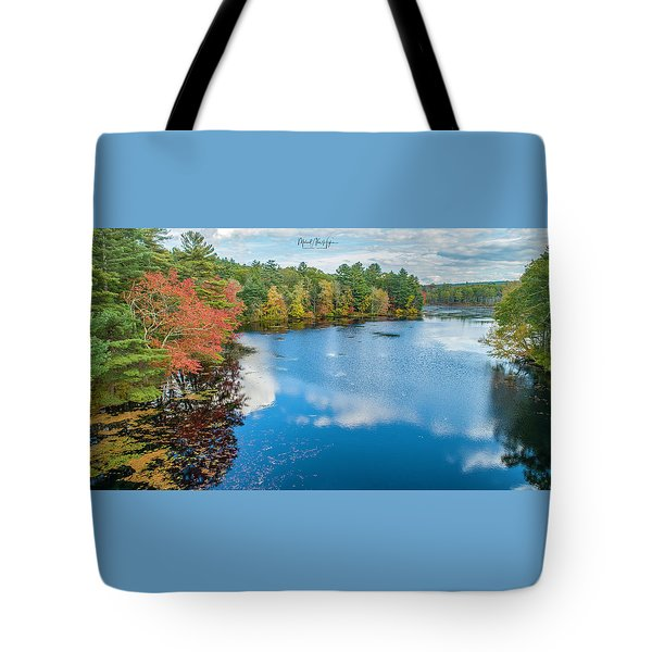 Tote Bag featuring the photograph Colors Of Cady Pond by Michael Hughes