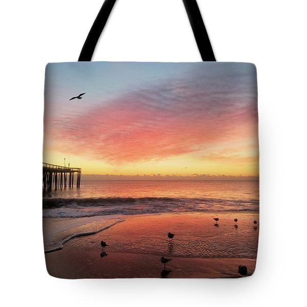 Tote Bag featuring the photograph Colors Of Dawn by Robert Banach