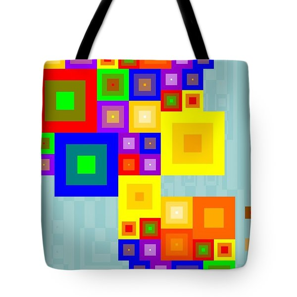 Colourful Cubism  Tote Bag