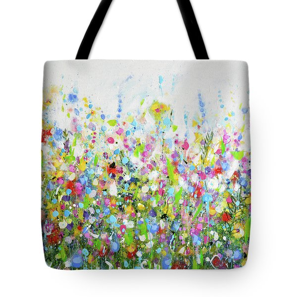 Colourful Meadow 40 Tote Bag