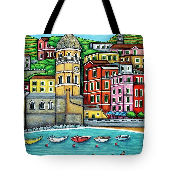 Colours Of Vernazza Tote Bag
