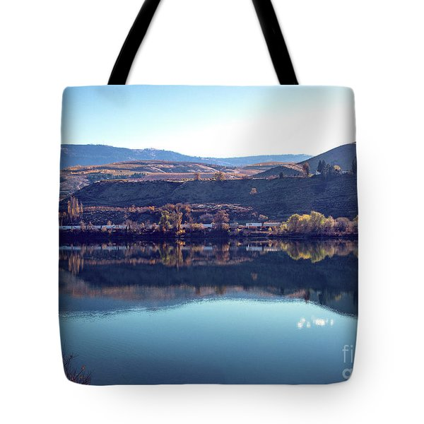 Tote Bag featuring the photograph Train Reflection by Mae Wertz