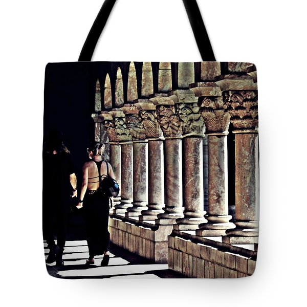 Columns At The Cloisters 2   Tote Bag