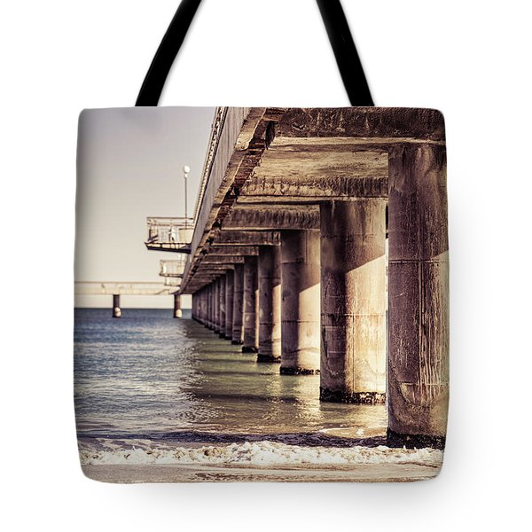 Columns Of Pier In Burgas Tote Bag